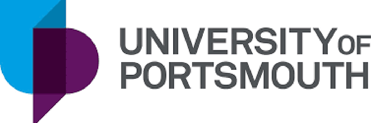 University of Portsmouth purple and blue logo