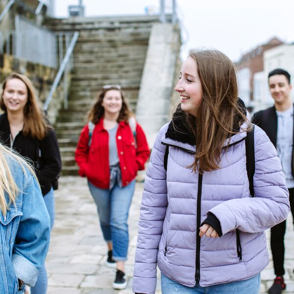 Students walking in Old Portsmouth