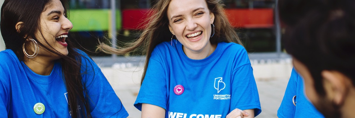 Group of University of Portsmouth welcome ambassadors