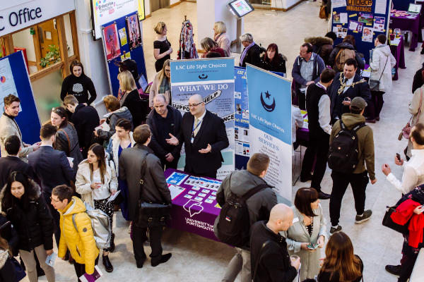 Students at an enterprise careers event