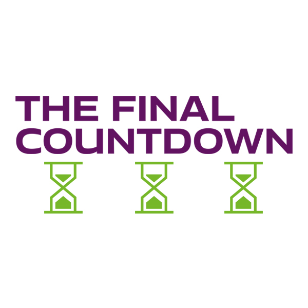"""the final countdown"" graphic"