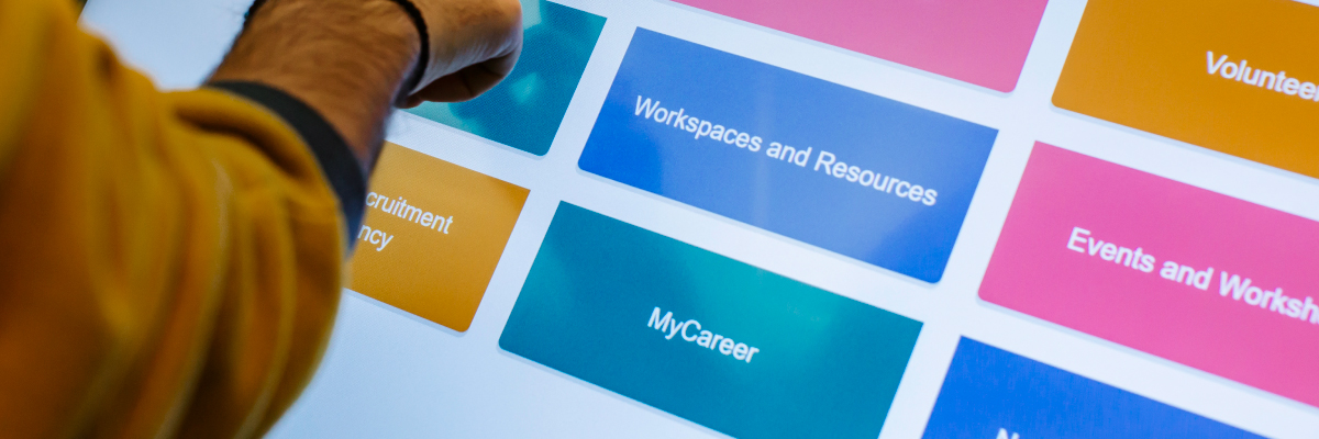 Interactive screen to access MyCareers jobs board