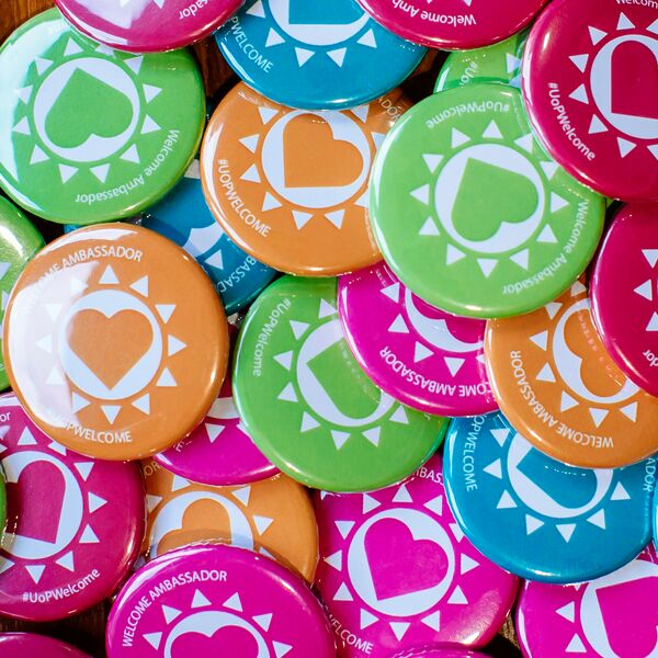 Welcome ambassador badges