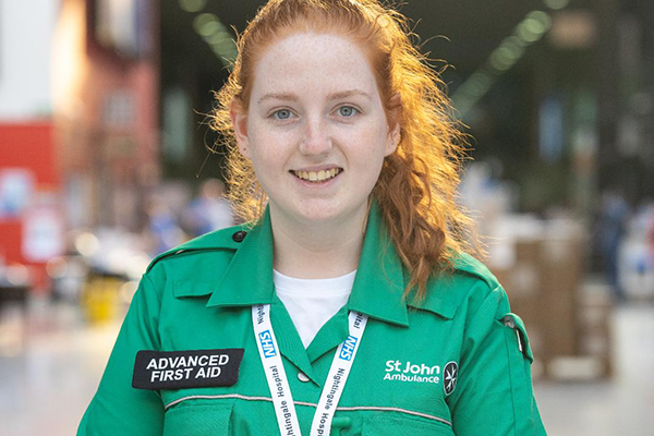 Amy Hughes, St John's Ambulance volunteer and University of Portsmouth student